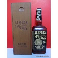 Alberta Springs Canadian Whisky 1973 Bottle Wood Box