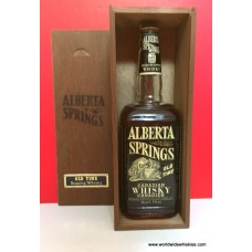 Alberta Springs Canadian Whisky 1967 Bottle Wood Box