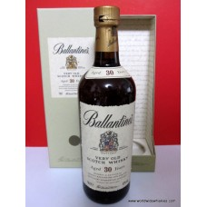 Ballantines 30 Year Old Whisky Boxed