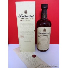 Ballantines Signature 19 Year Old Whisky Boxed