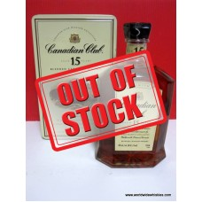 Canadian Club 15 Year Canadian Whisky Tin Boxed