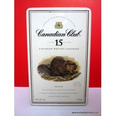 Canadian Club 15 Year Canadian Whisky BEAVER Tin Boxed