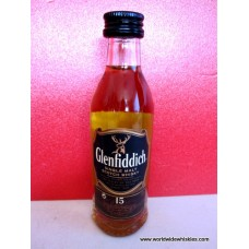 Glenfiddich 15 Year Single Malt Whisky Miniature 50ml