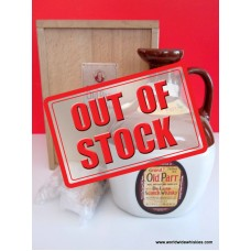 Grand Old Parr Crock Decanter 750ml Wood Boxed