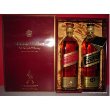 Johnnie Walker BLACK & RED Whisky Gift Boxed 2 x 750ml
