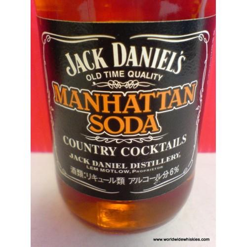 jack daniels manhattan soda cocktail