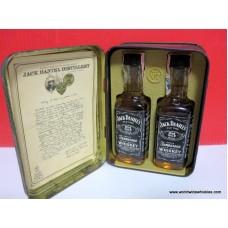 Jack Daniels 2 x Mini / Tin Gift Set