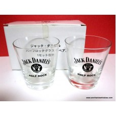 Jack Daniels Half Rock 2 Glass Set Boxed