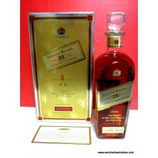 Johnnie Walker 21 Yr 1820 Decanter Boxed