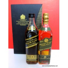 Johnnie Walker GREEN & BLACK 15 & 12 Year Old Whisky 2 x 200ml Boxed Set