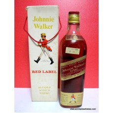 Johnnie Walker RED Okinawa Import 4/5 Quart Paper Seal / Boxed