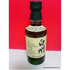 Suntory HAKUSHU 12 Year Japanese Whisky Miniature 50ml