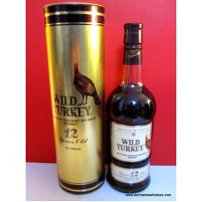 Wild Turkey 12 Year Old Whiskey Gold Box